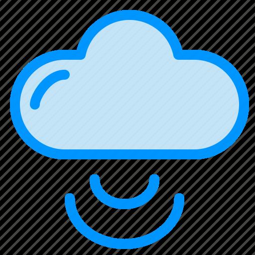 cloud, signal, wifi icon