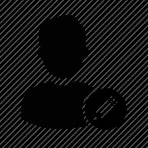 admin, edit, edit user, manager, person, profile, user icon