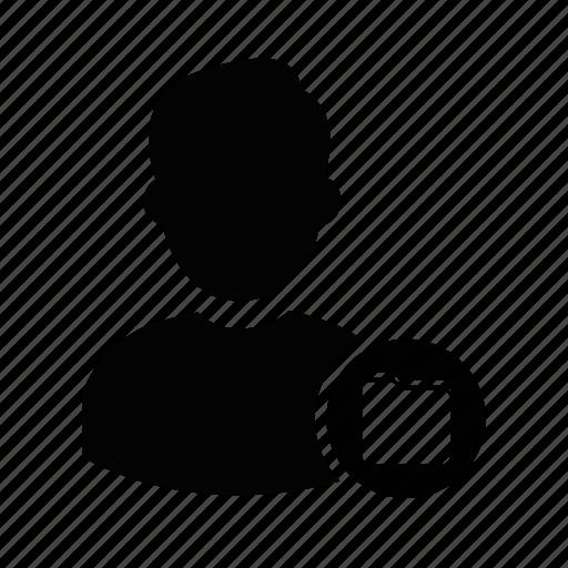 admin, folder, manager, person, profile, user, user folder icon
