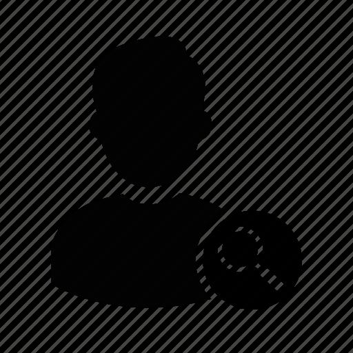 admin, find, manager, person, profile, search, user icon