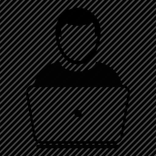 computer, engineer, laptop, user, working icon