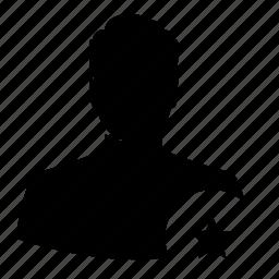 avatar, best, favorite, man, silhouette, star, user icon