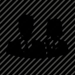 avatar, businessman, man, silhouette, team, user, woman icon