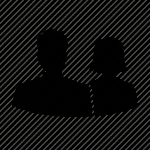 avatar, couple, love, romance, silhouette, team, user icon