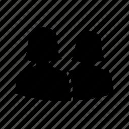 avatar, couple, lesbian, love, silhouette, team, user icon