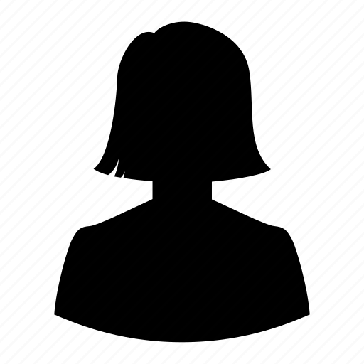 avatar, girl, haircut, mother, silhouette, user, woman icon