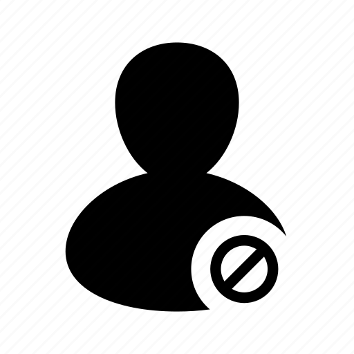 access, account, avatar, block, blocked, denied, user icon