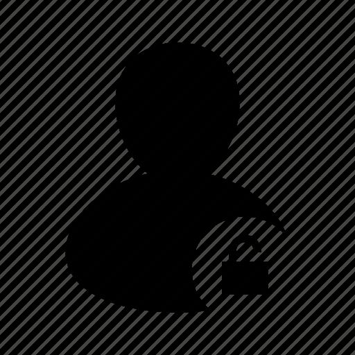 account, avatar, lock, locked, unlock, unlocked, user icon