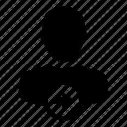 arrow, person, profile, right, user icon