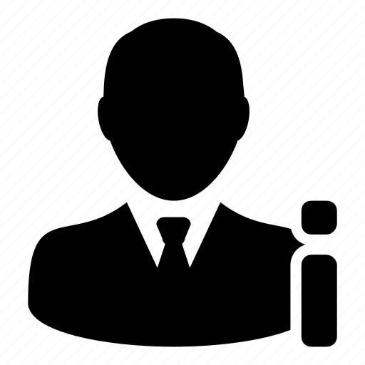 businessman, data, info, profile, user icon
