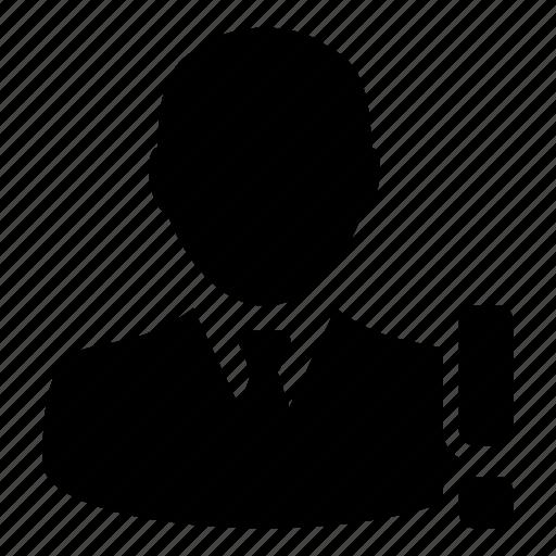 Alert, businessman, person, user, warning icon - Download on Iconfinder