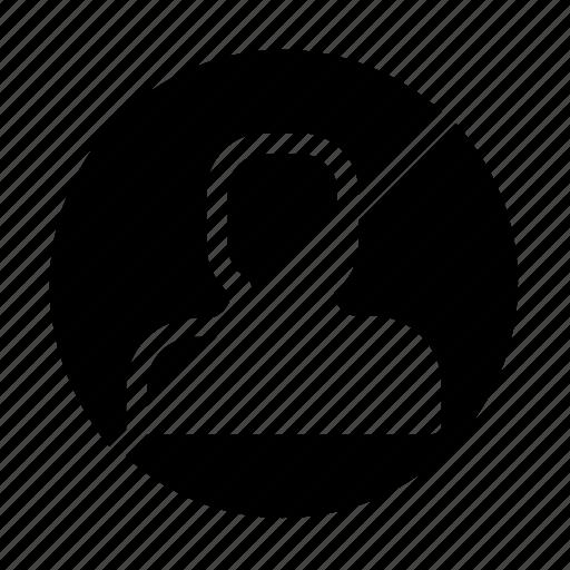 account, block, profile icon