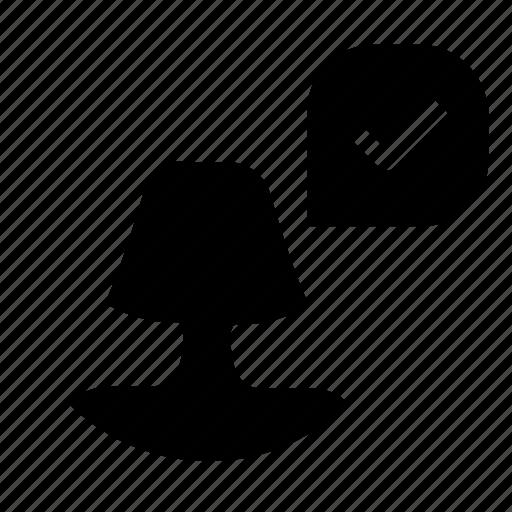 account, confirm, profile icon