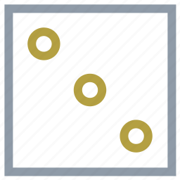 dice, dice game, gambling, number three, poker icon