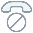ban sign, call, communication, telecommunication, telephone, telephone receiver icon