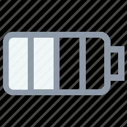 battery charging, battery level, battery status, full battery, mobile battery icon