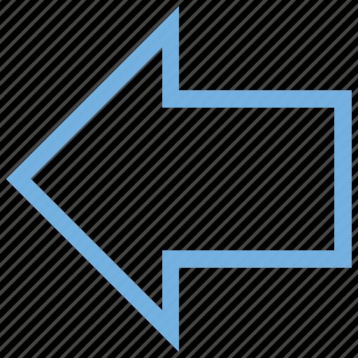 arrow indication, arrow left, back arrow, back sign, go back icon