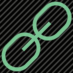 chain, hyperlink, internet, link, seo icon