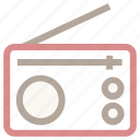 old radio, radio, radio antenna, radio set, technology, transmission icon