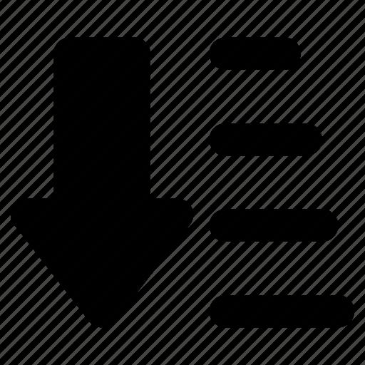 Alphabetical order, alphabetize, descending order, descending sorting, sort a list alphabetically icon - Download on Iconfinder