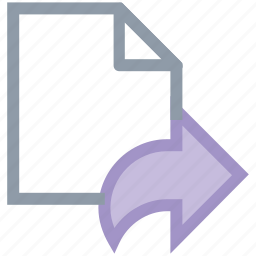 document, email sending, filde, file sent, forward arrow icon