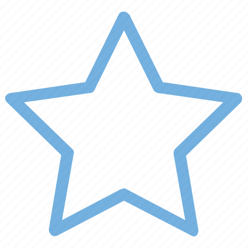 five pointed, like, star, star outline, star shape icon
