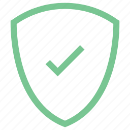 lock, safe, secure, shield tick, sure icon