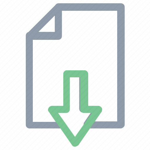 arrow sign, file, file download, file downloading, webelement icon