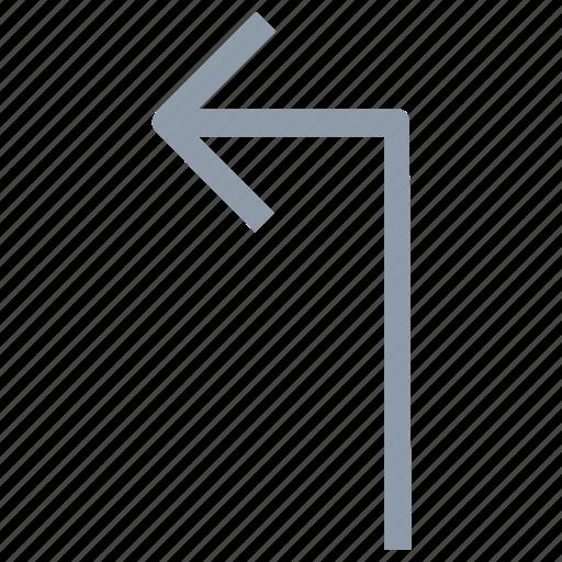 arrow direction, arrow hint, arrow indication, arrow pointer, arrow pointing, arrow turn, directional arrow, up left icon