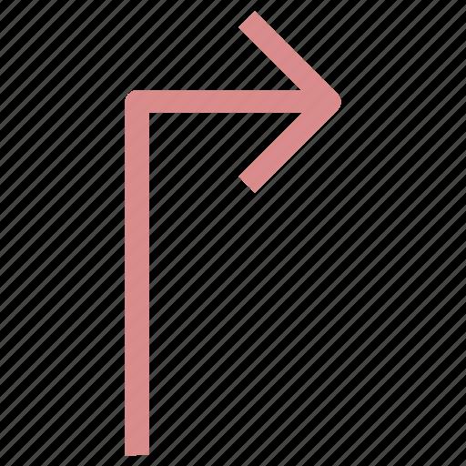 arrow direction, arrow hint, arrow indication, arrow pointer, arrow pointing, arrow turn, directional arrow, up right icon