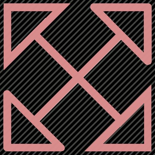 arrow cross, crisscross, enlarge symbol, expand expand, fullscreen icon