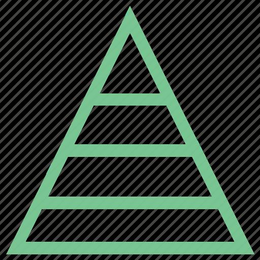 dimension, layers, pyramid, pyramid levels, steps icon
