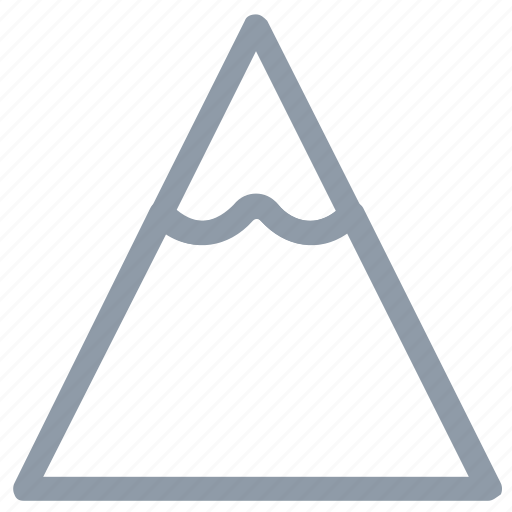 hill, mountain, nature, snowy mountain, triangle shape icon