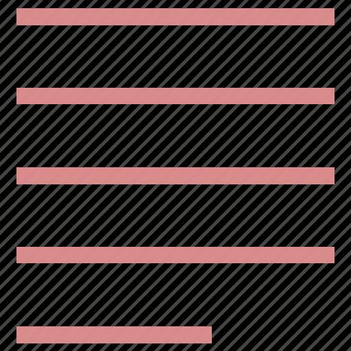 alignment option, left alignment, line align, text alignment, text formatting icon