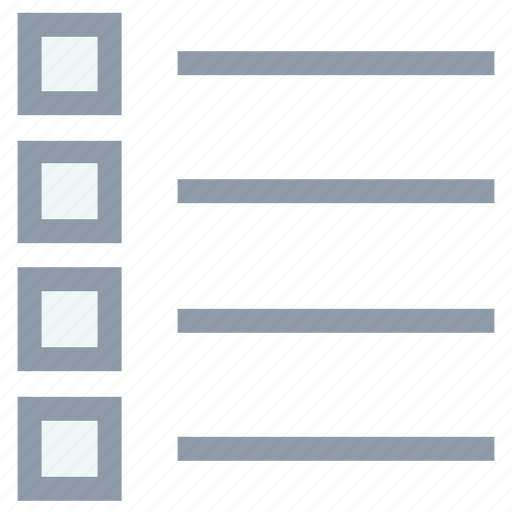 bulleted document, bulleted lines, bulleted list, list, text icon