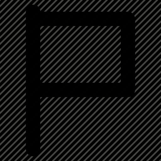 banner, ensign, flag, plain flag, signal icon