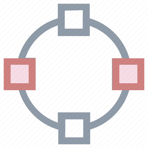 cut cross, expand, intersect, pointers, spread icon