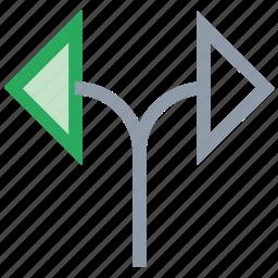 couple of arrow, diagonal, direction, directional, random icon
