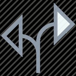 couple of arrow, diagonal, direction, directional, shuffle arrow icon