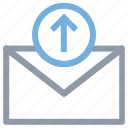 arrow, email arrow, letter, outgoing email, sent email