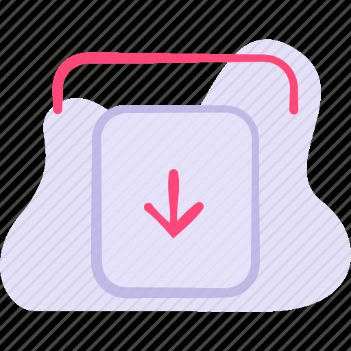arrow, control, down, download, guardar icon