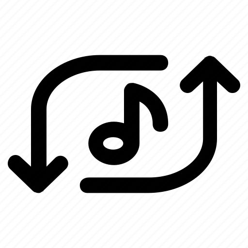 arrow, media, multimedia, music, player, repeat, ui icon