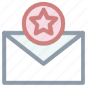 email ranking, email with star, five pointed, star icon