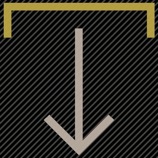 arrow, down arrow, download, download tray, save file icon