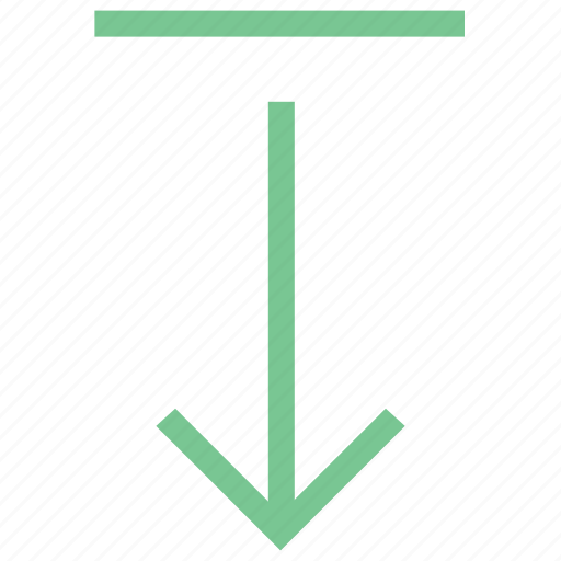 arrow pointing, direction, down, down arrow, download icon