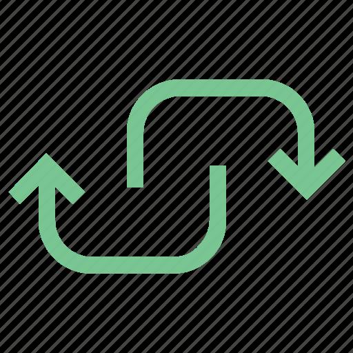 down, loop, refresh, reload, update icon