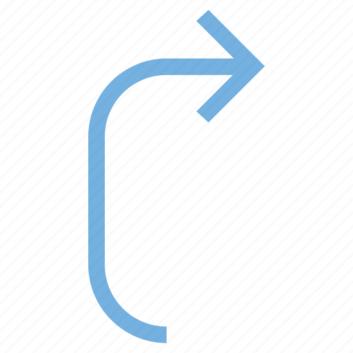 arrow pointing, direction, down, download, trajectory icon