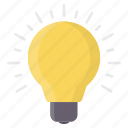 bulb, electric, energy, idea, light, power icon