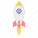 fly, launch, missile, plane, rocket, startup icon