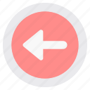 arrow, arrows, back, direction, left, navigation icon